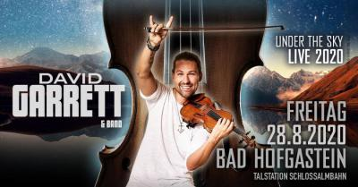 David Garrett in Gastein am 28. August 2020